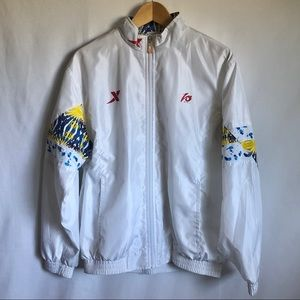 Equipment sporty white bomber jacket size M